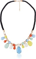 Cinderella Collection By Shining Diva Contemporary Blue & Green Statement Alloy Necklace