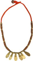 Charvee Petal Pendant Dhokra (Tribal) Brass Necklace