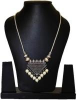 Seher Oxidised Black Metal Pendant Necklace Metal Necklace