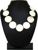 Dhruvi Creation By Zaveri Pearls Lavishing Round-Zpfk2265 Mother Of Pearl Silk Dori Necklace