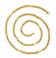 The Jewelbox 3d Pipe Yellow Gold Plated Brass Chain