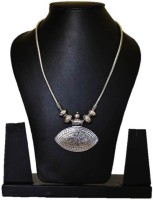 Seher Oxidised Black Metal Pendant Necklace Metal Necklace