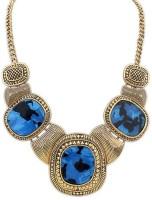 Crunchy Fashion Vintage Blue Stone Alloy Necklace