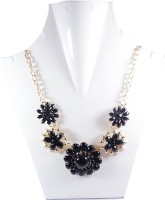 Navisha Fancy Black Metal Necklace