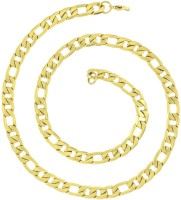 The Jewelbox Etched Curb Yellow Gold Plated Stainless Steel Chain
