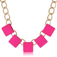 Cinderella Collection By Shining Diva Choker Blocked Alloy Necklace