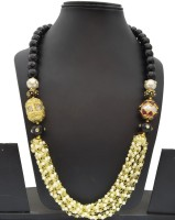 Swarna Elegant Neckpiece With Meenakari Beads Onyx Stone Necklace