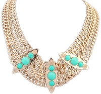Crunchy Fashion Rose Gold Plated Alloy Necklace
