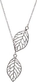 Aaishwarya Double Leaf Dainty Alloy Necklace