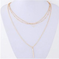 Cinderella Collection By Shining Diva Golden Multilayer Dainty Alloy Necklace