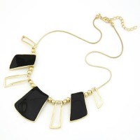 Cinderella Collection By Shining Diva Black & Golden Alloy Necklace