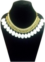FashBlush Forever New WhiteBead & Chain Alloy Necklace