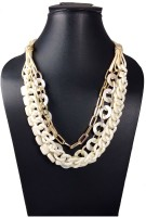 Hotpiper Designer White Yellow Gold Plated Acrylic Necklace