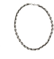 Vaishnavi Two Tone Bold Size Titanium Finished 316L Surgical Stainless Steel Chain
