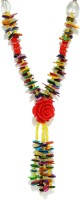 Golden Peacock Shell Multi-Colour Crystal Necklace