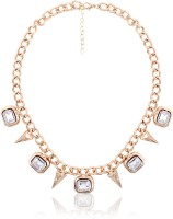 Cinderella Collection By Shining Diva Gold Crystal Neckpiece Alloy Necklace