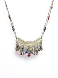 Galz4ever Golden Curve Designer Alloy Necklace