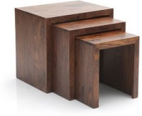 HomeEdge Solid Wood Nesting Table (Finish Color - PROVINCIAL TEAK, Set Of - 3)
