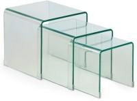 HomeHQ Nest Glass Nesting Table (Finish Color - Transparent Finish, Set Of - 1)