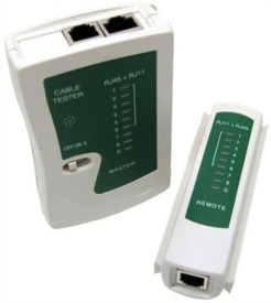 GoodsBazaar Network LAN Cable Tester RJ45 / RJ11 / RJ12 / Cat5 Network Interface Card