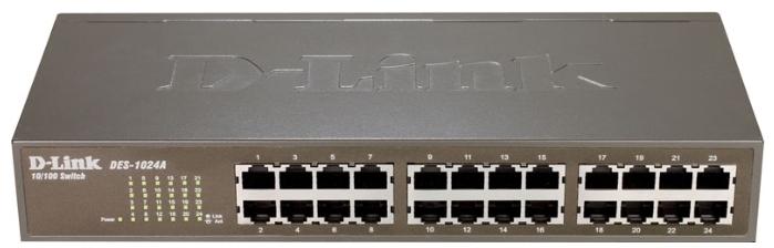 Коммутатор с 16 портами d-link des-1018mp/a1a 10/100base-tx с поддержкой poe +2 комбо-порта 10/100/1000base-t/sfp
