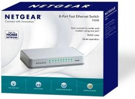 Netgear FS208 8 Port Fast Ethernet Network Switch