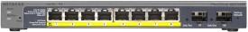 Netgear Prosafe 8-Port Gigabit Poe Smart Switch with 2 Gigabit Fiber Sfp Network Switch