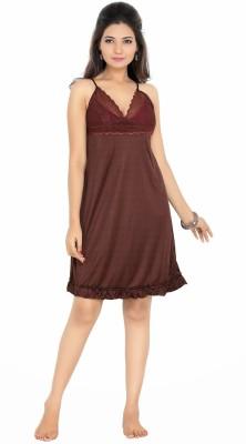 Myra Myra Women's Night Dress (Brown)