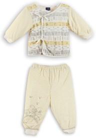 Lilliput Baby Boy's Printed Yellow Top & Pyjama Set