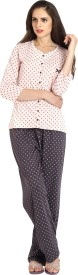 Slumber Jill Women's Polka Print Top & Pyjama Set