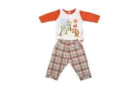 Cheeky Duck Baby Boy's Self Design Top & Pyjama Set