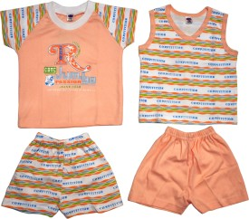 Belle Girl Baby Girl's Printed Top & Shorts Set