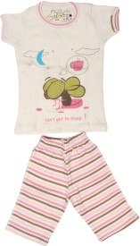 Earth Conscious Baby Boy's Graphic Print Top & Pyjama Set