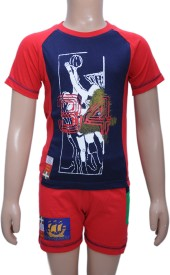 Bermuda Boy's Graphic Print Top & Shorts Set