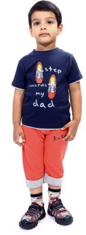 Bio Kid Towards Dad Boy's Printed Top & Shorts Set
