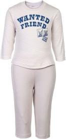 Zero Baby Boy's Striped Brown Top & Pyjama Set