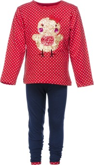 Pepito Girl's Embellished Top & Pyjama Set