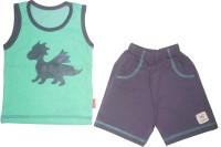 Mini Taurus Baby Boy's Animal Print Green Top & Shorts Set