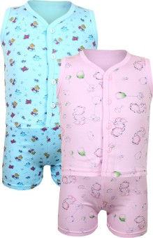 Jazzup FTA Night Suits Baby Boy's Printed Top & Shorts Set - NSTE68NHBDFUYY8M
