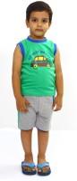 Bio Kid Bio Car Baby Boy's Printed Top & Shorts Set