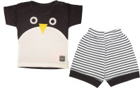 Mini Taurus Baby Boy's Animal Print Grey Top & Pyjama Set