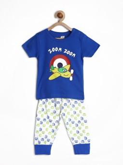 Yellow Kite Baby Boy's Printed T-shirt & Three-forth Set