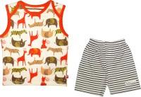 MINI TAURUS Baby Boy's Animal Print Orange Top & Shorts Set