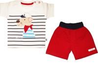Mini Taurus Baby Boy's Animal Print Red Top & Shorts Set