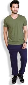 LanosUC Super Soft Men's Self Design Blue Top & Pyjama Set