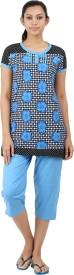 Informal Wear Women's Floral Print Top & Pyjama Set