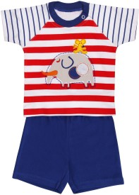 Munna Munni Kids Apparel Baby Boy's Printed, Striped, Solid Top & Shorts Set