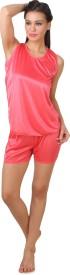 Fasense Fashion Women's Solid Top & Shorts Set