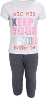 Bio Kid Baby Girl's Printed Top & Capri Set - NSTE5W6UCSZJGGDZ