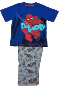 Kuddle Kid Boy's Printed Grey, Blue Top & Pyjama Set